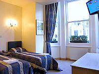 A twin room at Oxford Hotel London